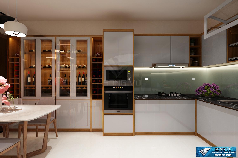 Bếp ăn hiện đại nội thất Song Vũ ở chung cư