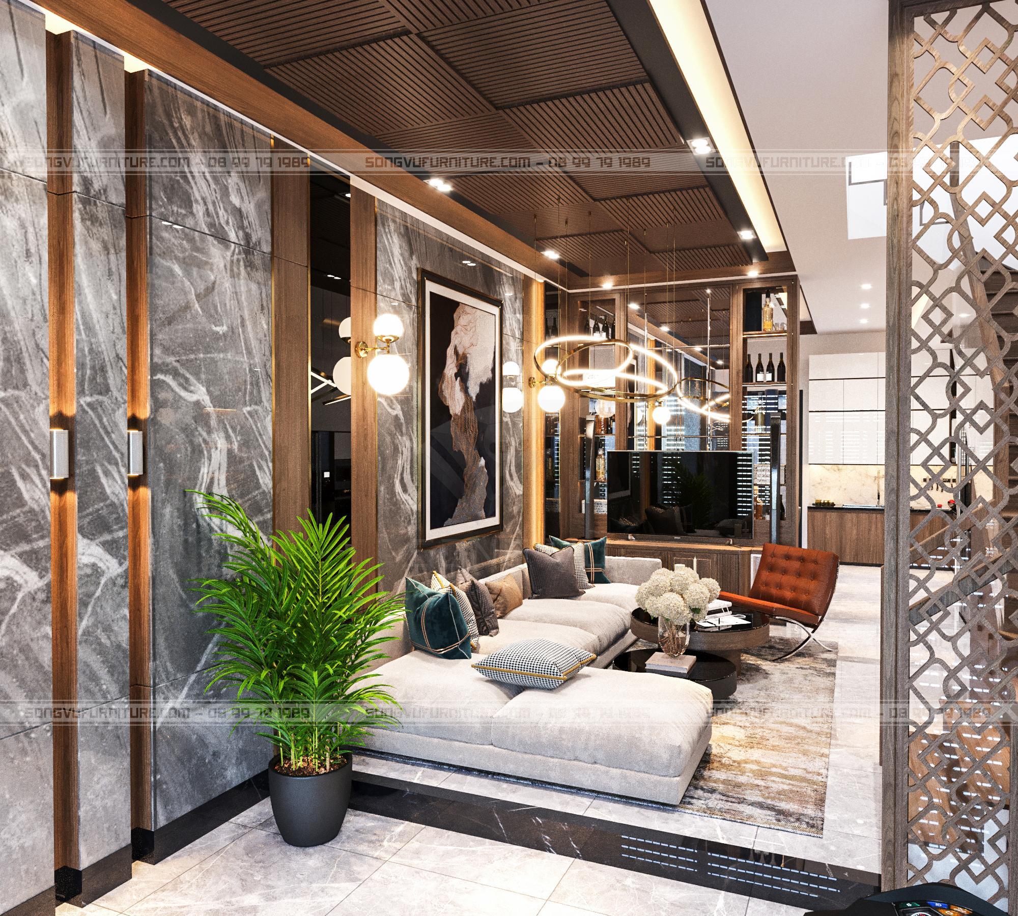 Phòng khách sang trọng nội thất Song Vũ