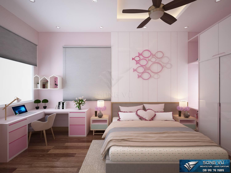 Phòng ngủ đẹp đơn giản nội thất Song Vũ hiện đại