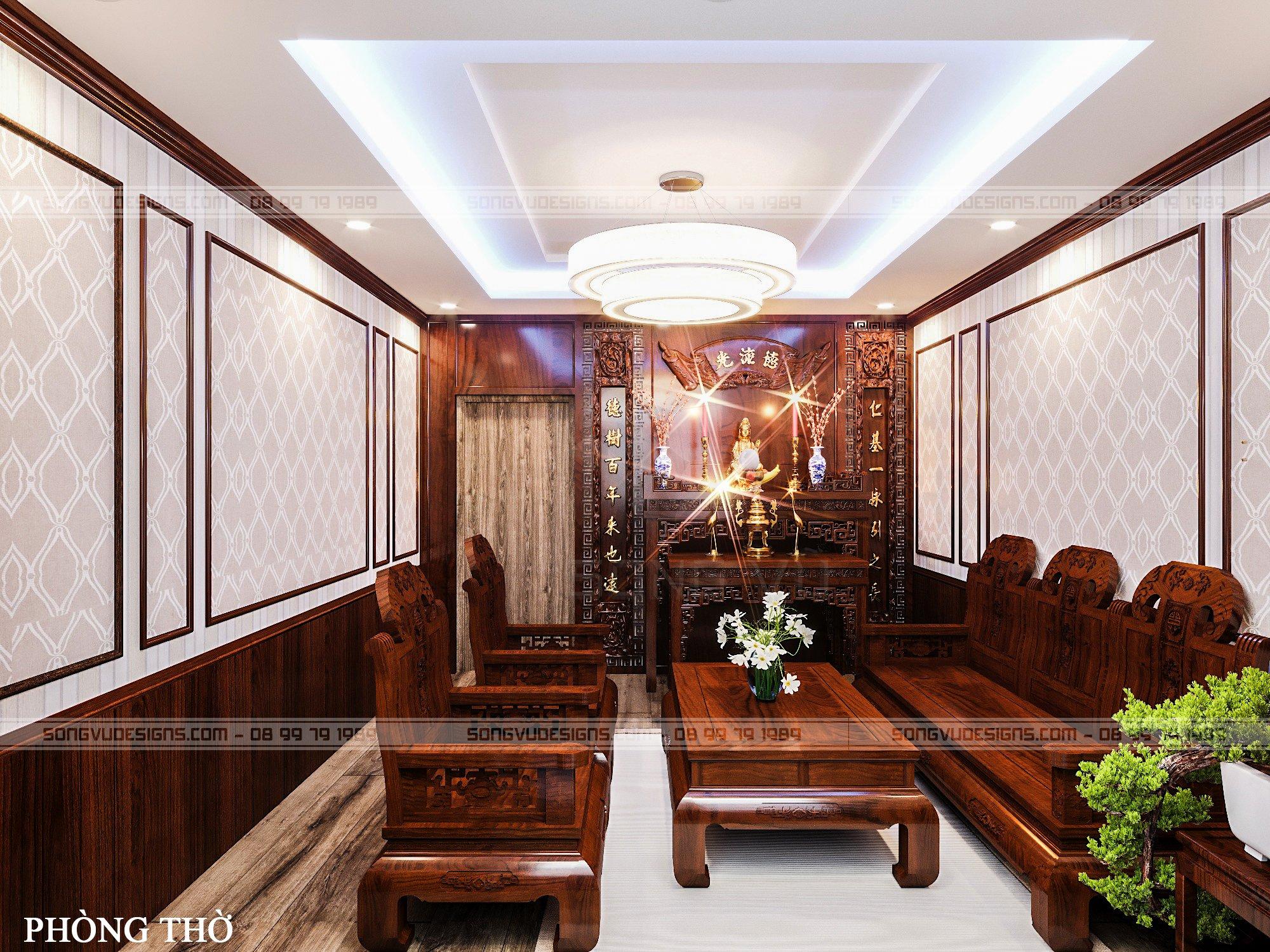 Phòng thờ bằng gỗ đẹp sang trọng