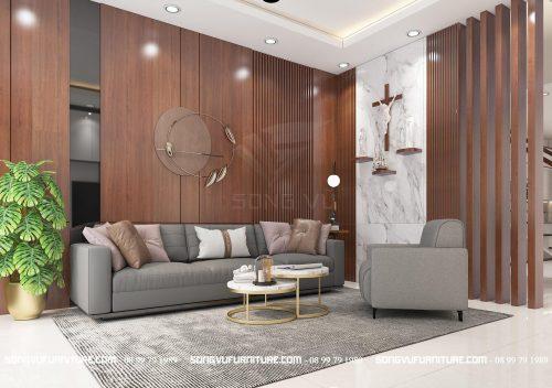 Phòng khách đẹp đơn giản nội thất Song Vũ