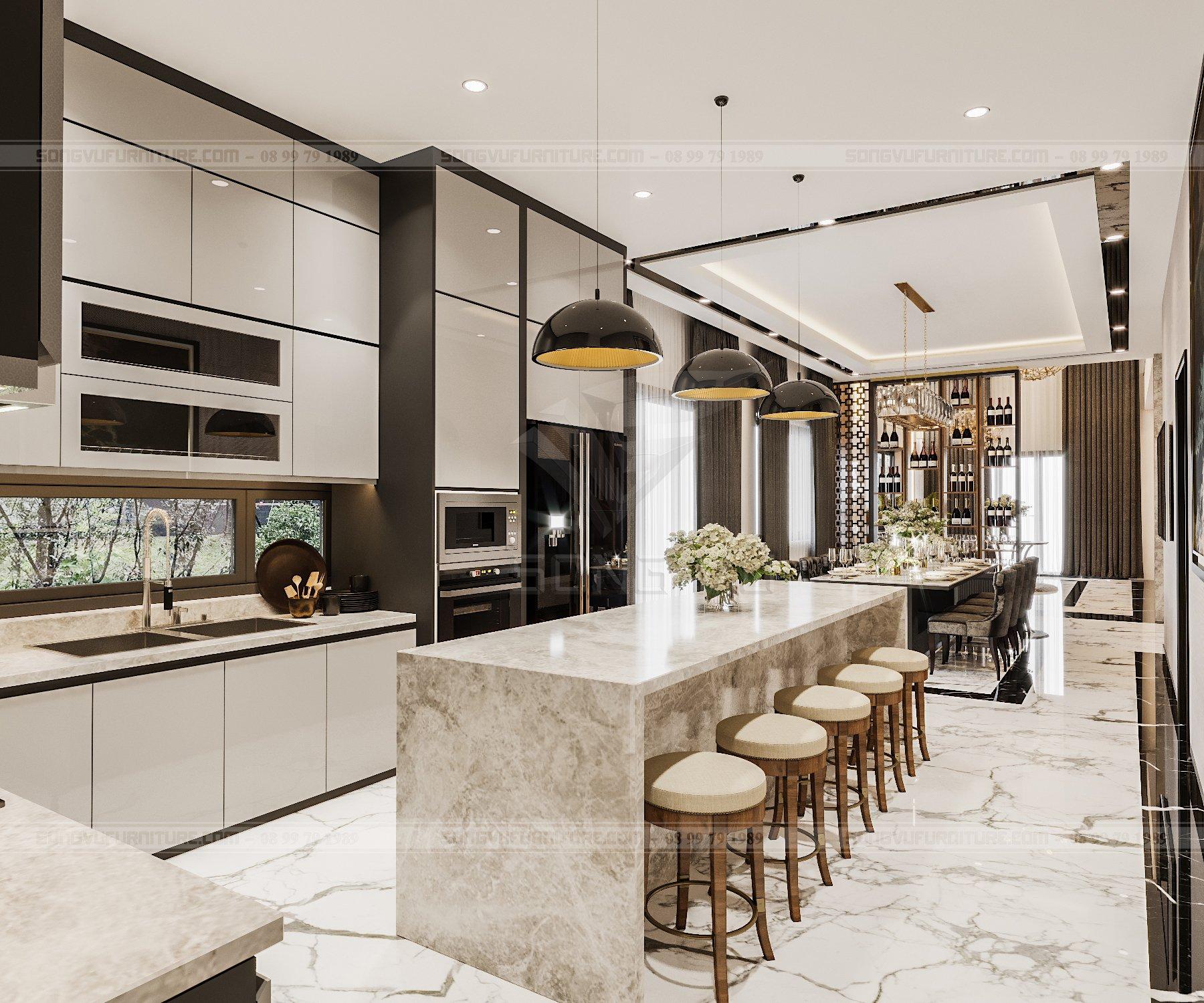 Bếp ăn hiện đại ở chung cư