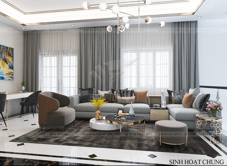 Phòng khách có nội thất đẹp hiện đại